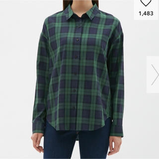 ジーユー(GU)のチェックシャツ(シャツ/ブラウス(長袖/七分))
