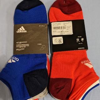 アディダス(adidas)のアディダス 靴下 27-29cm 6足 赤 青 白(ソックス)