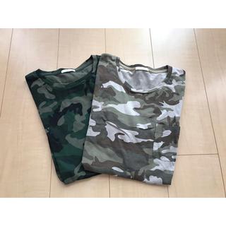 ジーユー(GU)のカモフラ柄Tシャツ(シャツ/ブラウス(長袖/七分))