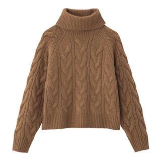 ジーユー(GU)のGU ジャンボネック ケーブル セーター(ニット/セーター)