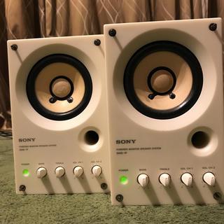 ソニー(SONY)のSONYモニタースピーカーSMS-1P 2個セット(スピーカー)