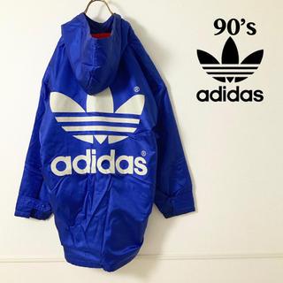 アディダス(adidas)の90's adidas ビッグトレフォイル ロゴ  ロングジャケット(ナイロンジャケット)