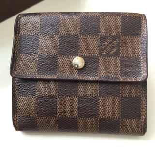 ルイヴィトン(LOUIS VUITTON)の正規品ルイヴィトンダミエWホック折り財布  (財布)