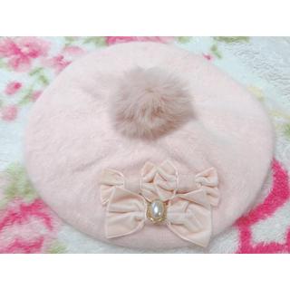 LIZ LISA - 【新品】リズリサ リボン・ポンポン付きベレー帽