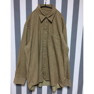 ☆used オーバーサイズ チェックシャツ(シャツ/ブラウス(長袖/七分))