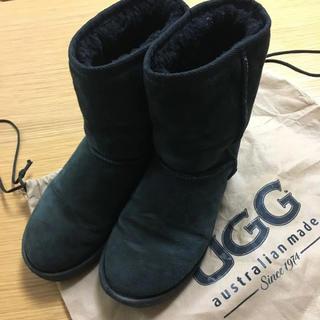 アグ(UGG)のUGG ムートンブーツ 黒 24.5(ブーツ)