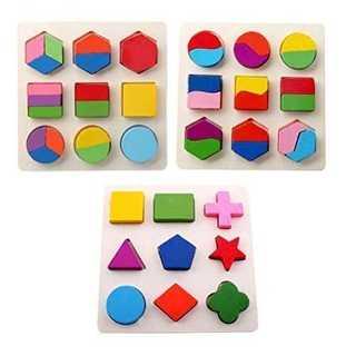 知育玩具 ♡型はめ パズル 幼児 木製 パズル (知育玩具)