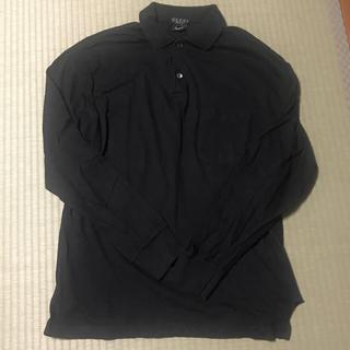 Gucci - GUCCI ポロシャツ シンプル 黒 ブラック