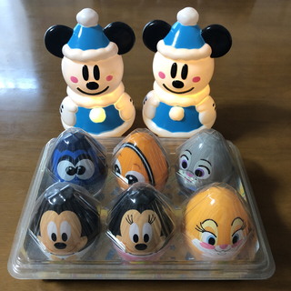 ディズニー(Disney)のミッキーライト✨x2➕たまご型容器🥚(その他)