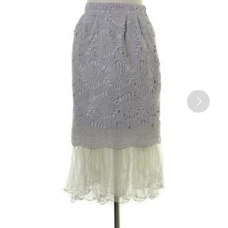 ミスティウーマン(mysty woman)のmysty woman  / チュールレースタイトスカート(ひざ丈スカート)