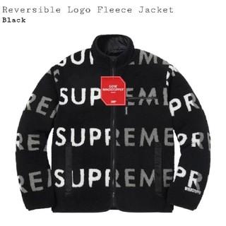 シュプリーム(Supreme)のSupreme Reversible Logo Fleece Jacket 黒S(ブルゾン)