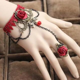 特価!ゴシックな装飾ブレスレット 薔薇 V系、ゴスロリ、ロリータ系に◎(ブレスレット/バングル)