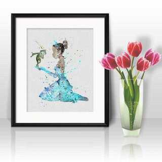 ディズニー(Disney)のティアナ(プリンセスと魔法のキス)アートポスター【額縁つき・送料無料!】(ポスター)