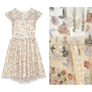 リリーブラウン(Lily Brown)のリリーブラウン LiLyBrown フラワー刺繍ワンピース(ミニワンピース)