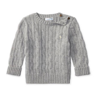 80 新品タグ付き ラルフローレン ベビー ケーブルコットン セーター