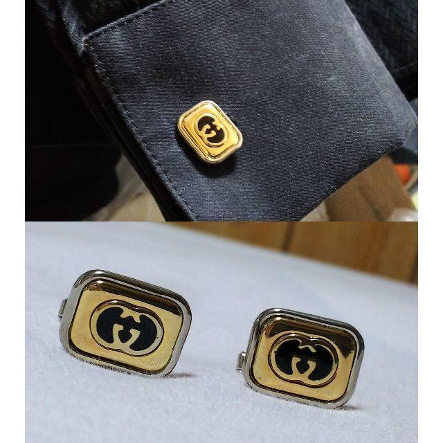 3dc9dceb4e50 Gucci(グッチ)の正規 グッチ オールド インターロッキング GGロゴ2連スクエアカフス