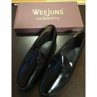 ジーエイチバス(G.H.BASS)のG.H.Bass&Co Weejuns LOGAN Black新品(ドレス/ビジネス)