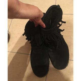 ナイキ(NIKE)のNIKE  ナイキ  チャッカ  ブーツ  フリンジ ショートブーツ ブラック(ブーツ)