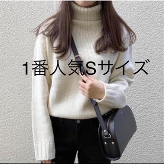 GU - ローゲージタートルネックセーター (長袖)MC  Sサイズ