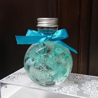 ハーバリウム  ネコ瓶
