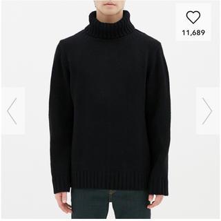 GU - GU ローゲージタートルネックセーター メンズS