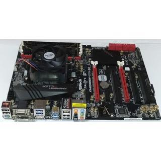 中古保証付 FM2+ マザーボード、CPU、メモリ3点セット(PCパーツ)
