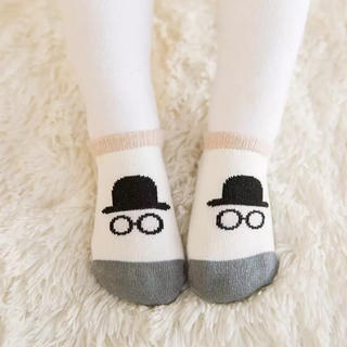 New❗️ノーブランド ショートソックス ❪帽子メガネ❫ 韓国 プチプラ