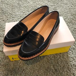 スピックアンドスパン(Spick and Span)のチナ様専用 スピックアンドスパン SKA ローファー 黒 35(ローファー/革靴)