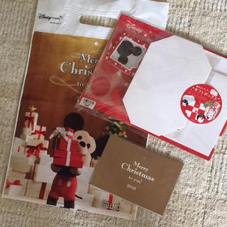 ディズニー(Disney)のディズニーストア ギフトボックス&クリスマスカード(印刷物)