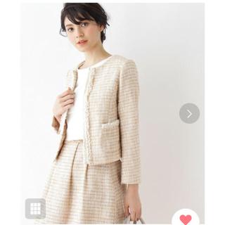 クチュールブローチ(Couture Brooch)のツイードジャケット 新品タグ付き(ノーカラージャケット)