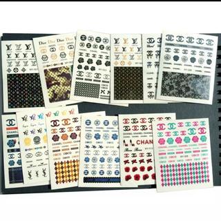 新品 ネイルシール ウォーターシール 12枚セット ロゴ(デコパーツ)