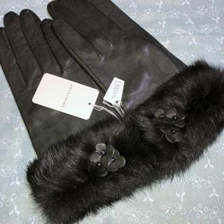アンテプリマ(ANTEPRIMA)の《新品》アンテプリマ、おしゃれな高級革手袋:M、モスグリーン(手袋)
