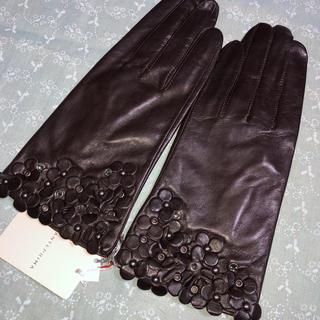 アンテプリマ(ANTEPRIMA)の《新品》アンテプリマ、おしゃれな高級革手袋:M、ダークブラウン(手袋)