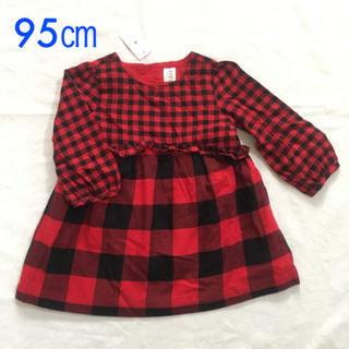 68d919f1a501d ベビーギャップ(babyGAP)の『新品』babyGap 女の子用 チェック柄 長袖シャツ