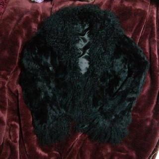 シーシークロス(C.C.†CROSS)のc.c.cross 高級 ラビットファー チベットラム ショートコート ブラック(毛皮/ファーコート)