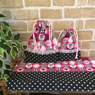 バービー♡巾着袋&ランチョンマットセット♡(ランチボックス巾着)