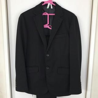ジーユー(GU)のGU メンズ ジャケット ブラック サイズM(テーラードジャケット)