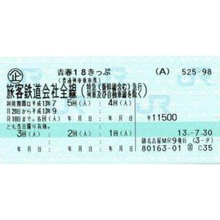 ジェイアール(JR)の青春18きっぷ 残り1回  返却不要(鉄道乗車券)