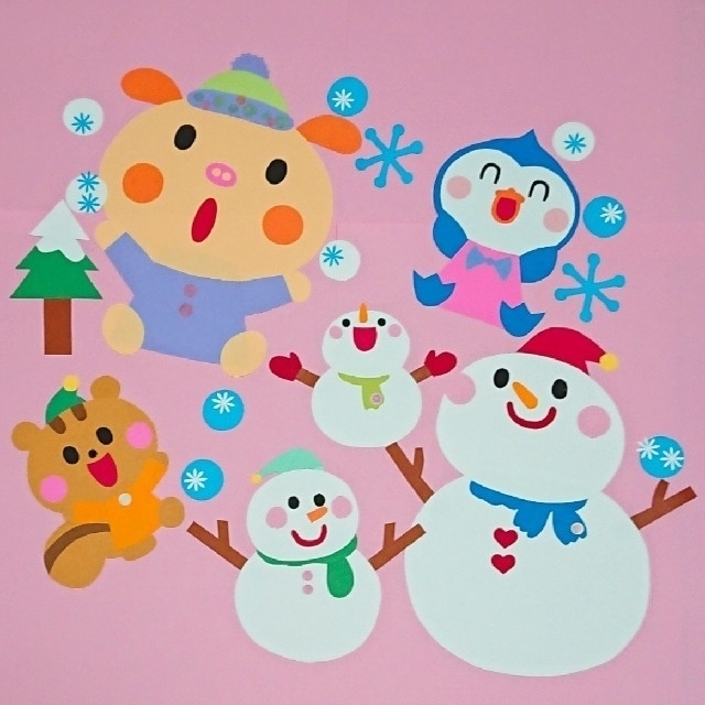 壁面 雪だるま 紙皿で作るカンタン雪だるま【製作】【壁面】|保育士・幼稚園教諭のための情報メディア【ほいくis/ほいくいず】