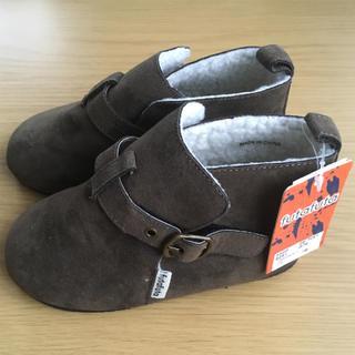 フタフタ(futafuta)の新品 未使用 タグ付 futafuta ブーツ 17cm キッズ 靴 ボア 茶(ブーツ)