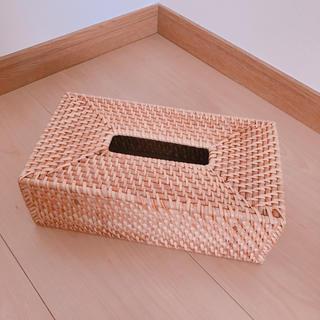 ムジルシリョウヒン(MUJI (無印良品))の無印良品 ティッシュボックス ラタン 木 アジアン(ティッシュボックス)