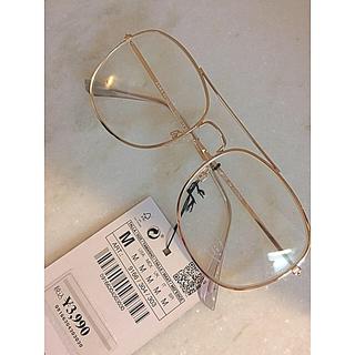 ZARA - 【新品】ZARA  最初スクエアメタルフレーム付きメガネ