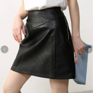 アズールバイマウジー(AZUL by moussy)の新品未使用タグ付き タイトレザースカート(ミニスカート)