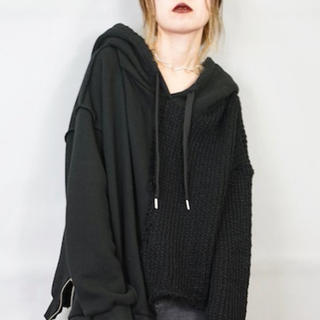【新品】HELK KNIT × SWEAT SWITCHING HOODIE