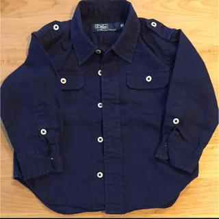 ポロラルフローレン(POLO RALPH LAUREN)のPolo 紺色長袖シャツ 80cm(シャツ/カットソー)