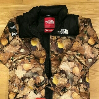 Supreme - Supreme The North Face Nuptse Leaves 枯葉