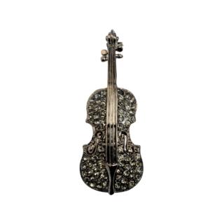 音楽好きにはたまらない♡ ブローチ バイオリン 黒