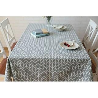 テーブルクロス 北欧風 綿麻 グレー ナチュラル 撥水 灰色 厚手(テーブル用品)