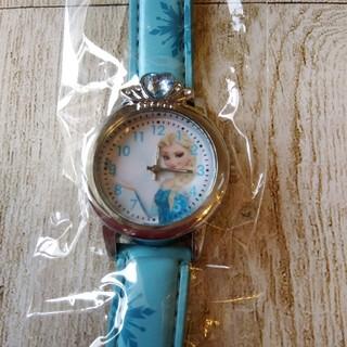 【新品】アナと雪の女王 キッズ 腕時計 水色(腕時計)