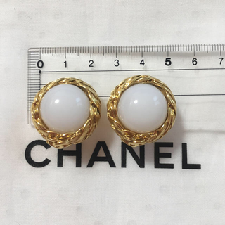 シャネル(CHANEL)のCHANEL パールリングイヤリング ゴールドカラー(イヤリング)